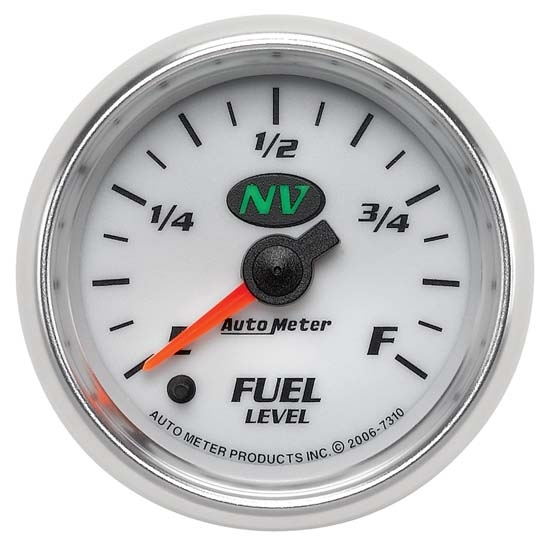 Auto Meter 7310 NV Digital Stepper Motor Fuel Level Gauge, 2-1/16 Inch