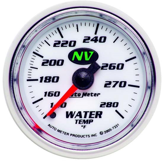 Auto Meter 7331 NV Mechanical Water Temperature Gauge, 2-1/16 Inch