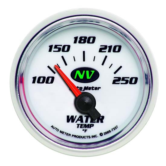 Auto Meter 7337 NV Air-Core Water Temperature Gauge, 2-1/16 Inch