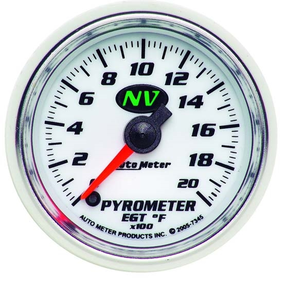 Auto Meter 7345 NV Digital Stepper Motor Pyrometer Gauge, 2-1/16 Inch