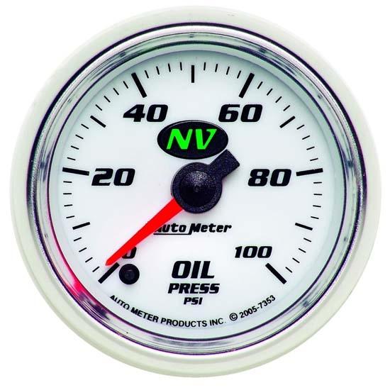 AutoMeter 7353 NV Digital Stepper Motor Oil Press  Gauge