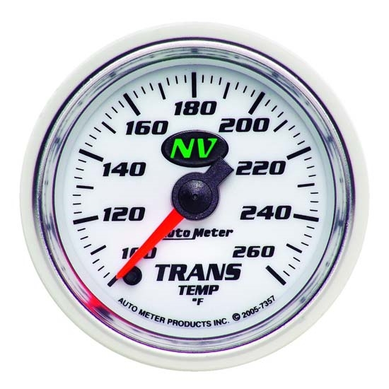 Auto Meter 7357 NV Digital Stepper Motor Transmission Temp Gauge