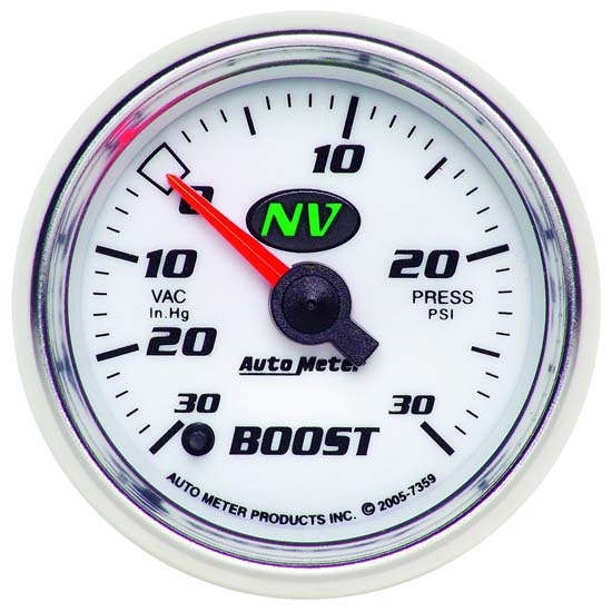 Auto Meter 7359 NV Digital Stepper Motor Boost/Vacuum Gauge