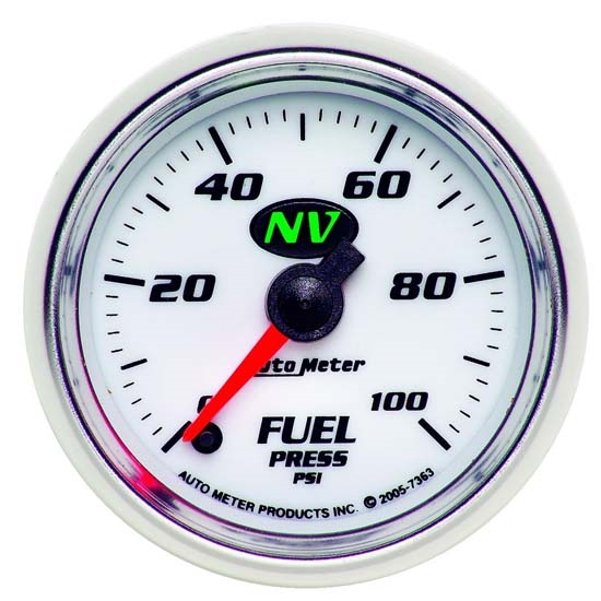 Auto Meter 7363 NV Digital Stepper Motor Fuel Pressure Gauge, 100 PSI