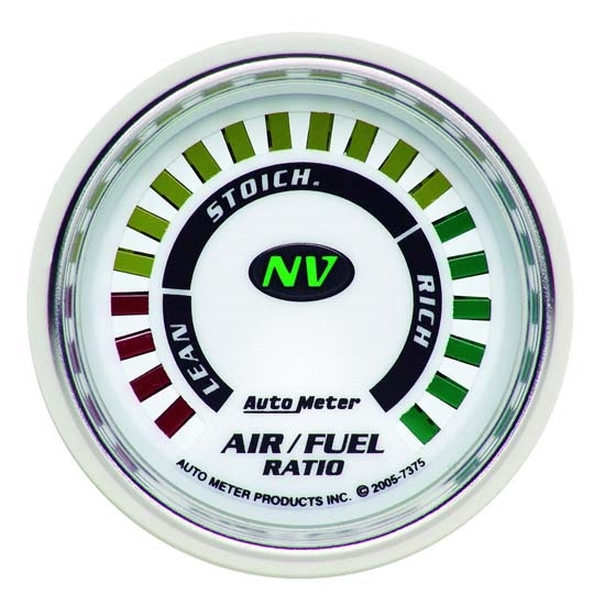 Auto Meter 7375 NV Digital  Narrowband Air/Fuel Ratio Gauge, 2-1/16