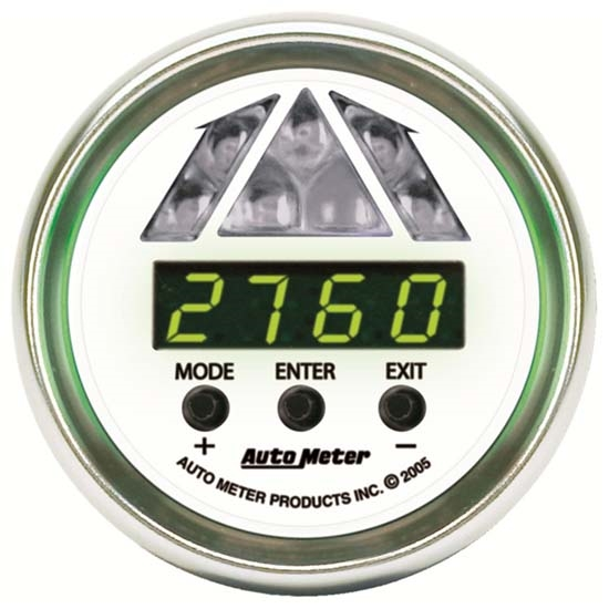 Auto Meter 7387 NV Pro-Shift Digital Shift-Light Gauge, Stage 1
