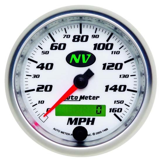 Auto Meter 7488 NV Air-Core Electric Speedometer, 3-3/8 Inch