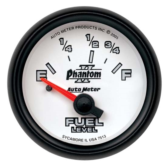 Auto Meter 7515 Phantom II Air-Core Fuel Level Gauge, 2-1/16 Inch