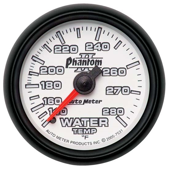Auto Meter 7531 Phantom II Mechanical Water Temperature Gauge