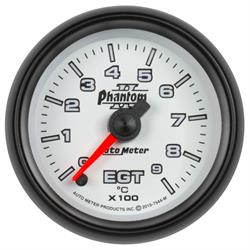 Auto Meter 7544-M Phantom II Boost/Pyro Gauge, 2-1/16, 0-900 Deg., Flat