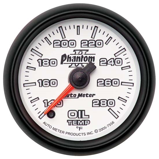 Auto Meter 7556 Phantom II Digital Stepper Motor Oil Temperature Gauge