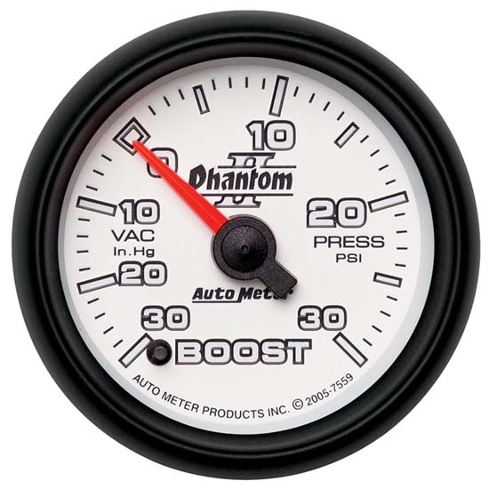 Auto Meter 7559 Phantom II Digital Stepper Motor Boost/Vacuum Gauge