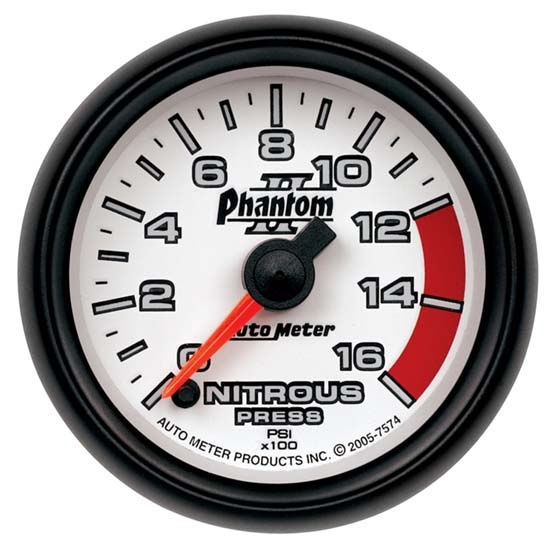 Auto Meter 7574 Phantom II Digital Stepper Motor Nitrous Press. Gauge