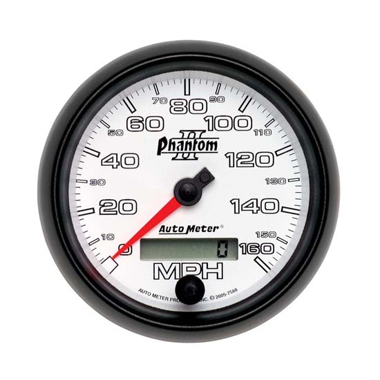 Auto Meter 7588 Phantom II Air-Core Speedometer, 160 MPH, 3-3/8 Inch