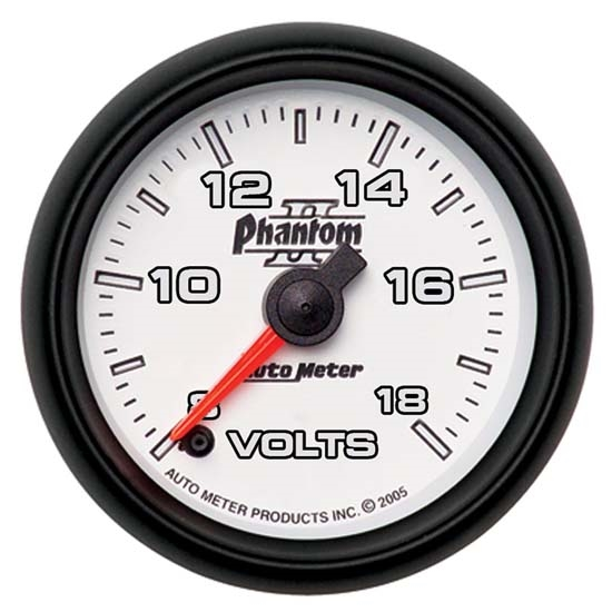 Auto Meter 7591 Phantom II Digital Stepper Motor Voltmeter Gauge