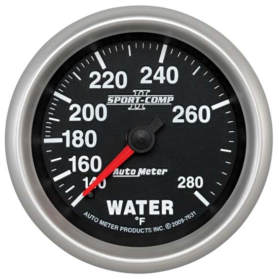 Auto Meter 7631 Sport-Comp II Mechanical Water Temperature Gauge