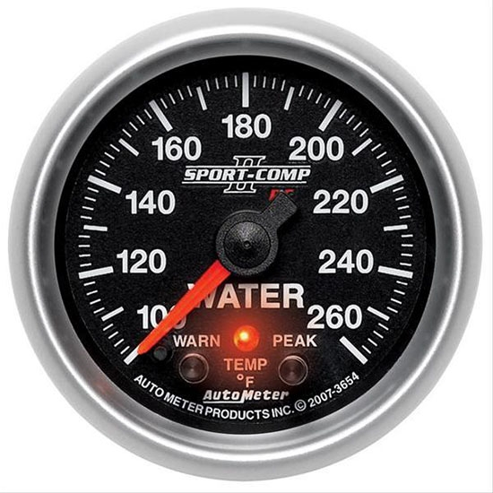Auto Meter 7655 Sport-Comp II Digital Stepper Motor Water Temp Gauge