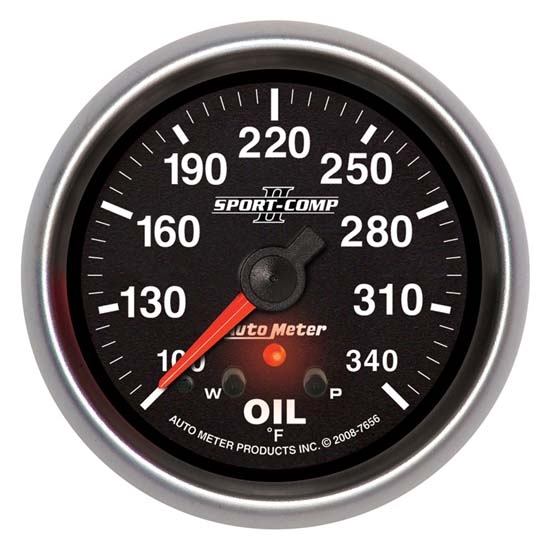Auto Meter 7656 Sport-Comp II Digital Stepper Motor Oil Temp Gauge