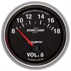 Auto Meter 7691 Sport-Comp II Air-Core Voltmeter Gauge, 2-5/8 Inch