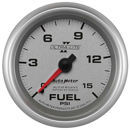 Auto Meter 7711 Ultra-Lite II Mechanical Fuel Pressure Gauge
