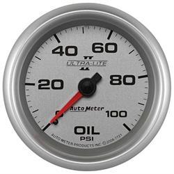 Auto Meter 7721 Ultra-Lite II Mechanical Oil Pressure Gauge
