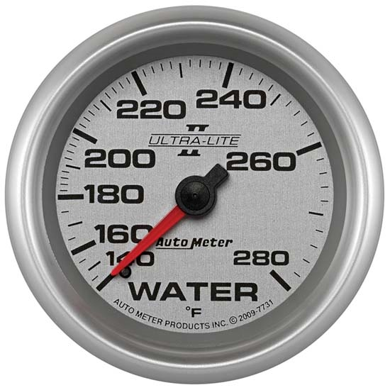 Auto Meter 7731 Ultra-Lite II Mechanical Water Temperature Gauge