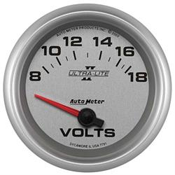 Auto Meter 7791 Ultra-Lite II Air-Core Voltmeter Gauge, 2-5/8 Inch