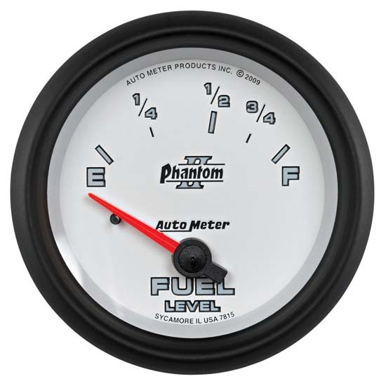 AutoMeter 7815 Phantom II Air-Core Fuel Level Gauge, 2-5/8 Inch