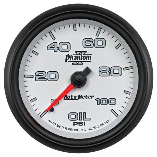 "Auto Meter 6327 Sport Comp Digital 2-1//16/"" 0-100 PSI Digital Oil Pressure Gauge"
