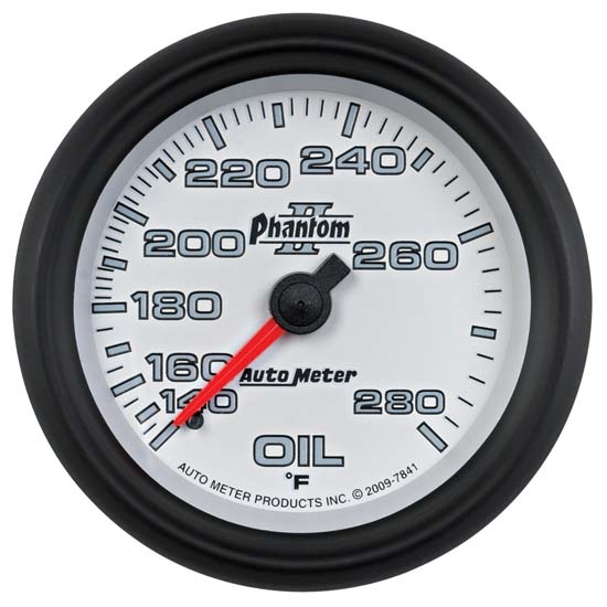 Auto Meter 7841 Phantom II Mechanical Oil Temperature Gauge