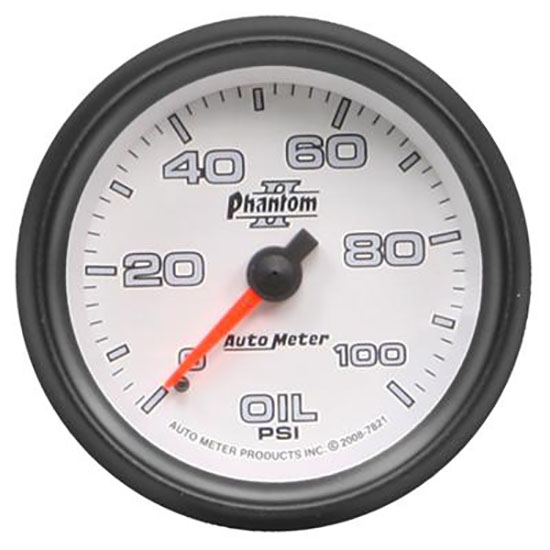 Auto Meter 7853 Phantom II Digital Stepper Motor Oil Pressure Gauge