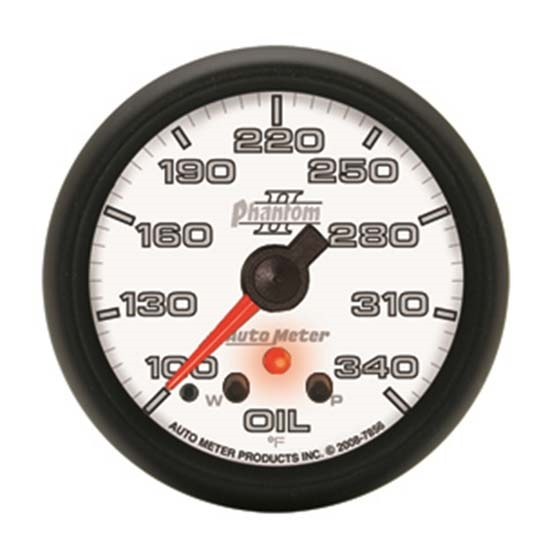 Auto Meter 7856 Phantom II Digital Stepper Motor Oil Temperature Gauge