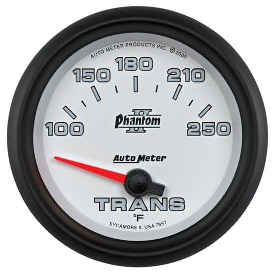 AutoMeter 7857 Phantom II Air-Core Transmission Temperature Gauge
