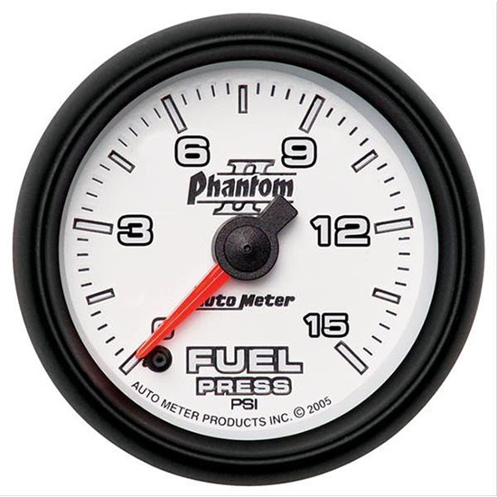 Auto Meter 7861 Phantom II Digital Stepper Motor Fuel Pressure Gauge