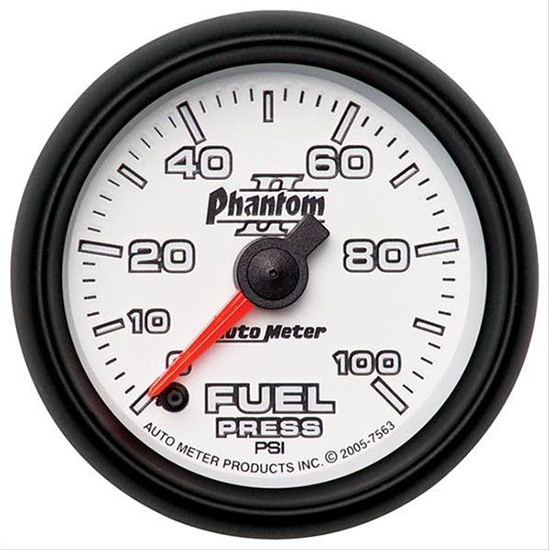 Auto Meter 7863 Phantom II Digital Stepper Motor Fuel Pressure Gauge