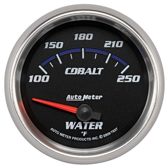 Auto Meter 7937 Cobalt Air-Core Water Temperature Gauge, 2-5/8 Inch