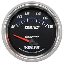 Auto Meter 7991 Cobalt Air-Core Voltmeter Gauge, 2-5/8 Inch