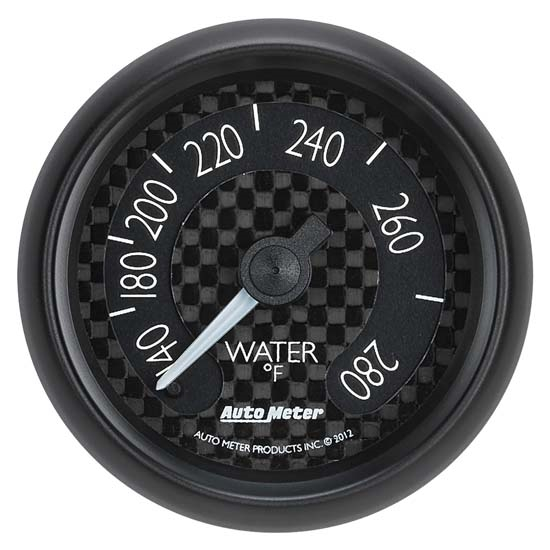Auto Meter 8031 GT Mechanical Water Temperature Gauge, 2-1/16 Inch