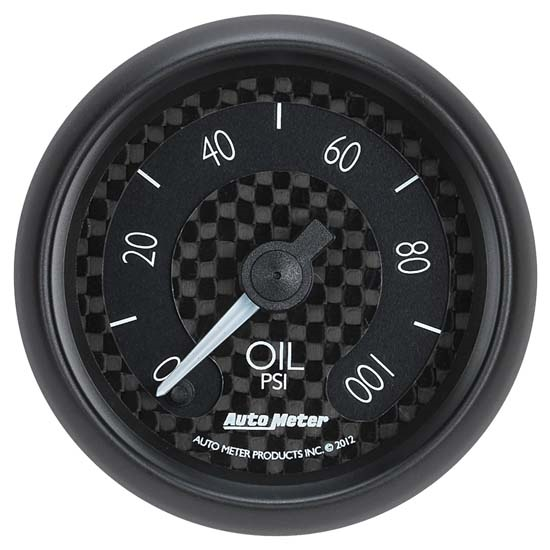 Auto Meter 8053 GT Digital Stepper Motor Oil Pressure Gauge, 2-1/16 In