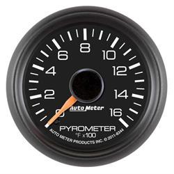 Auto Meter 8344 GM Factory Match Digital Stepper Motor Pyrometer Gauge
