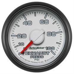 Auto Meter 8526 Gen 3 Dodge Factory Mechanical Exhaust Pressure Gauge