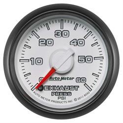 Auto Meter 8592 Gen 3 Dodge Digital Stepper Motor Exhaust Press. Gauge
