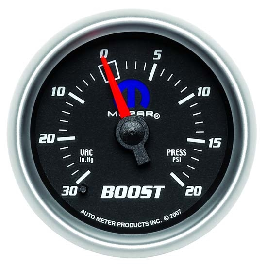 Auto Meter 880012 Mopar Mechanical Boost/Vacuum Gauge, 2-1/16 Inch