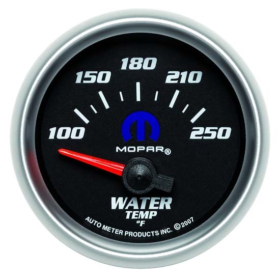 Auto Meter 880016 Mopar Air-Core Water Temperature Gauge, 2-1/16 Inch