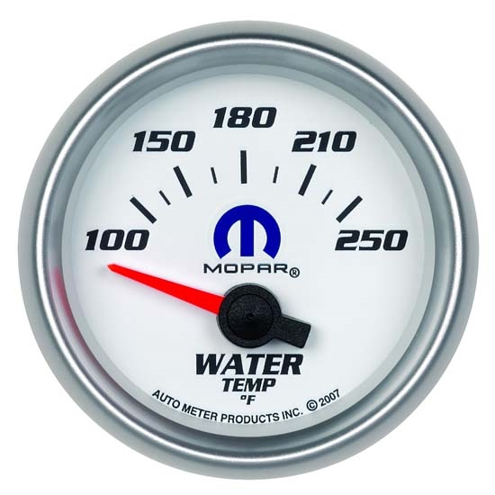 Auto Meter 880030 Mopar Air-Core Water Temperature Gauge, 2-1/16 Inch