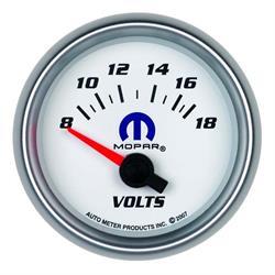 Auto Meter 880035 Mopar Air-Core Voltmeter Gauge, 2-1/16 Inch, 18V