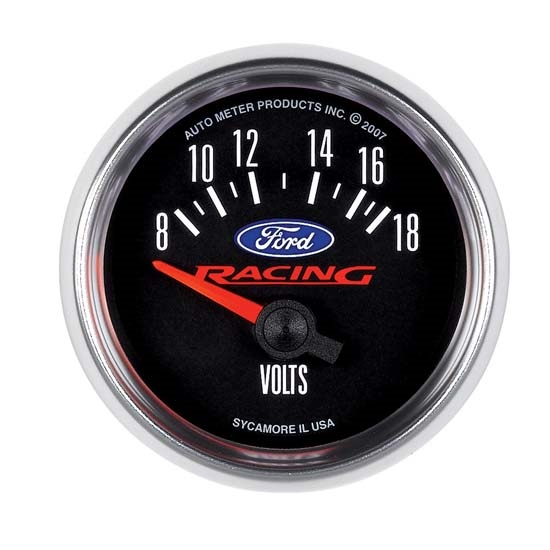 Auto Meter 880081 Ford Racing Air-Core Voltmeter Gauge, 2-1/16 Inch