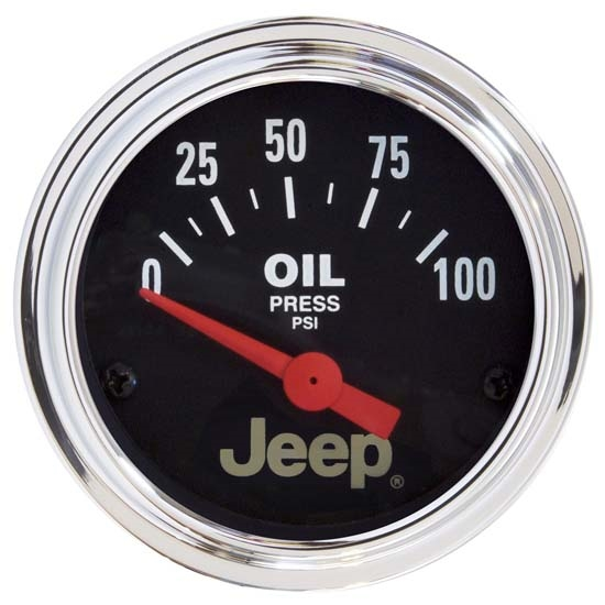 Auto Meter 880240 Jeep Air-Core Oil Pressure Gauge, 2-1/16 Inch