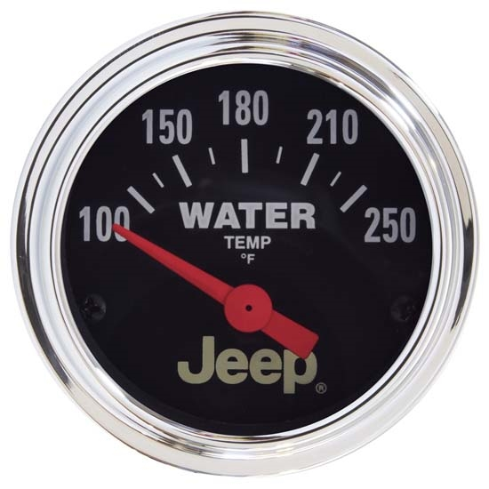 Auto Meter 880241 Jeep Air-Core Water Temperature Gauge, 2-1/16 Inch