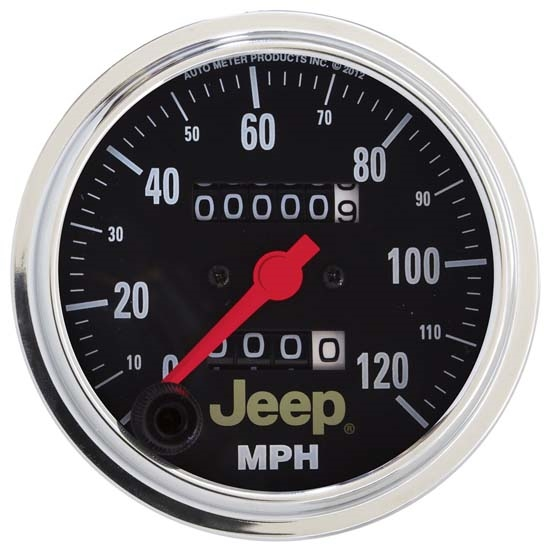 AutoMeter 880245 Jeep Mechanical Speedometer Gauge, 3-3/8 Inch